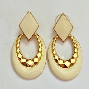 Vintage MONET door knocker earrings